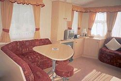 inside holiday caravan